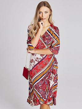 girls-on-film-midi-wrap-dress-scarf-print