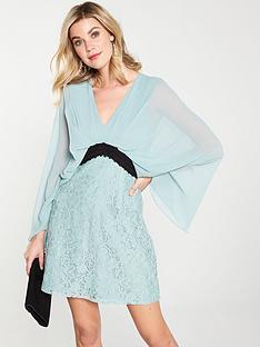 3f814859be6f1 Little Mistress Little Mistress Lace Contrast Waist Mini Dress