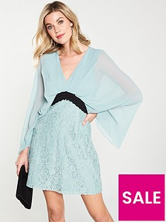 little-mistress-little-mistress-lace-contrast-waist-mini-dress