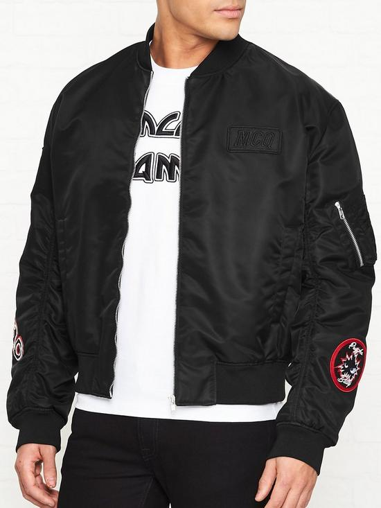 14b75c587 MA1 Logo Patch Bomber Jacket - Black