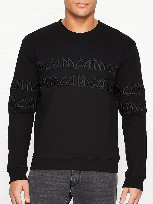 70d3d8df743be Embroidered Tonal Logo Sweatshirt - Black