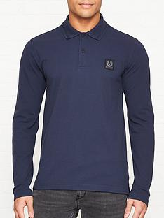 belstaff-selbourne-long-sleeve-pique-polo-shirt-navy