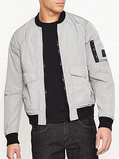 belstaff-barham-nylon-bomber-jacket-silver