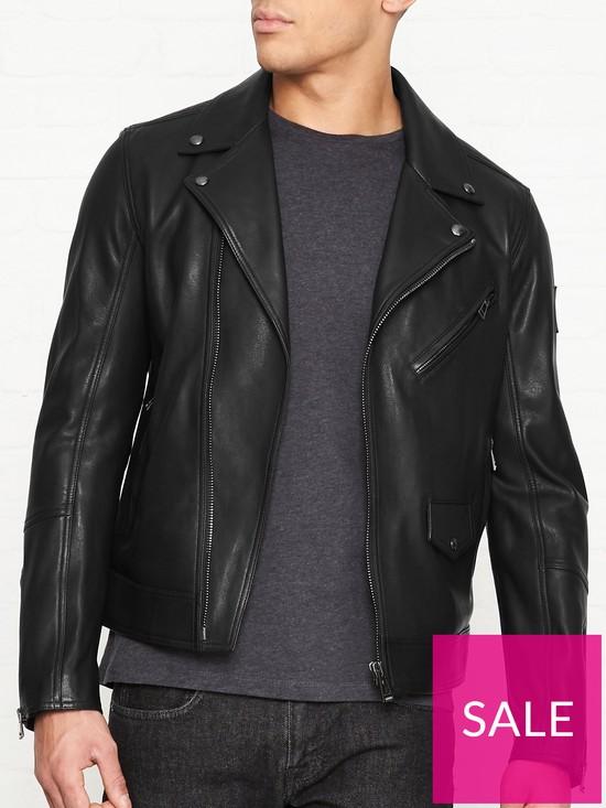 83779f81d69 Belstaff Fenway Leather Biker Jacket - Black | very.co.uk