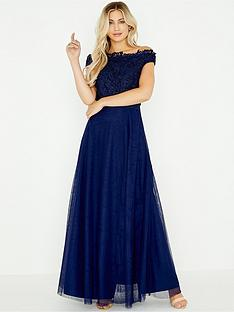 little-mistress-lizzie-lace-bardot-maxi-dress-navy