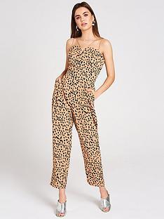 c744f7226631 Girls on Film Dalmatian Crepe Strappy Jumpsuit - Multi