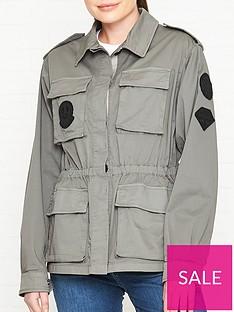 27ae9055 Belstaff Anchorfield Patch Detail Jacket - Green