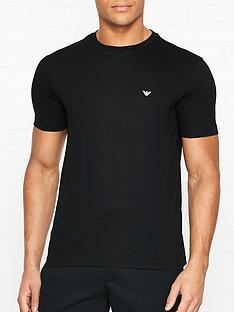emporio-armani-2-pack-chest-logo-t-shirts-black
