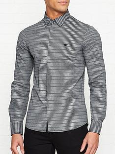 emporio-armani-logo-print-shirt-with-detachable-collarnbsp--black