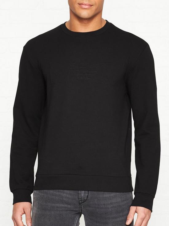 6c0ca6e784 Embossed Eagle Logo Sweatshirt - Black