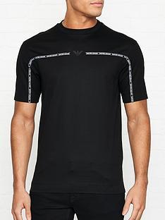 emporio-armani-logo-print-tape-t-shirt-black