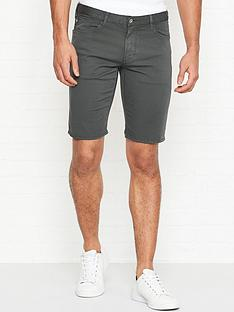 emporio-armani-slim-fit-cotton-twill-shortsnbsp--grey