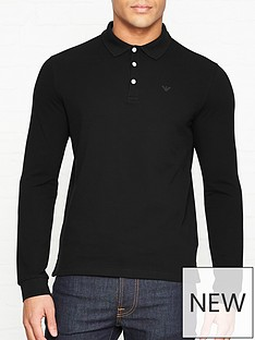 emporio-armani-long-sleeve-pique-polo-shirt-black