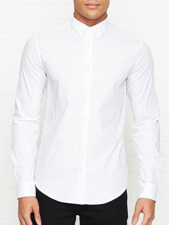 9450c63b221 EMPORIO ARMANI Classic Logo Detail Shirt - White