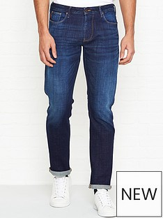 emporio-armani-j06-slim-fit-vintage-wash-jeans-blue