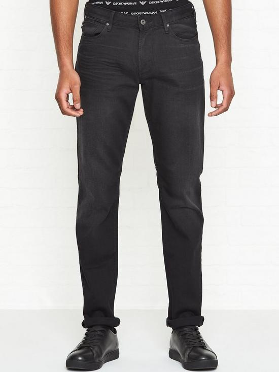 53ea4e9a J06 Slim Fit Jeans - Washed Black