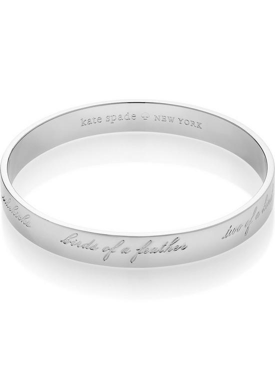 Kate Spade New York Friend Or Bridesmaid Engraved Bangle Silver