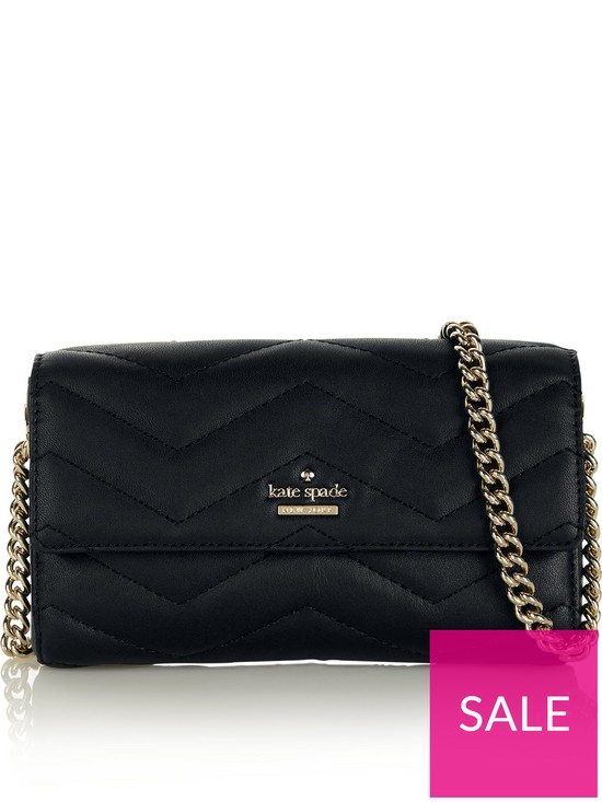 f8c777d01 Kate Spade New York Delilah Quilted Cross-Body Bag - Black | very.co.uk