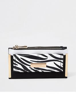 river-island-zebra-print-purse-black