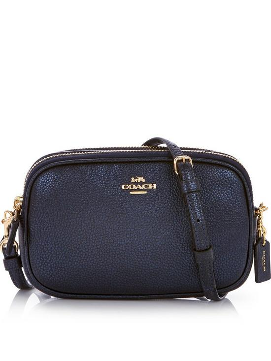COACH Metallic Crossbody Clutch Bag - Dark Blue | very co uk