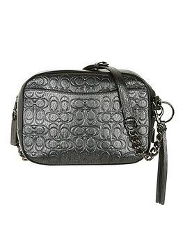 coach-metallic-signature-leather-camera-bag-dark-grey