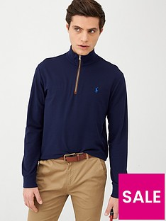 polo-ralph-lauren-golf-terry-half-zip-midlayer-top-navy