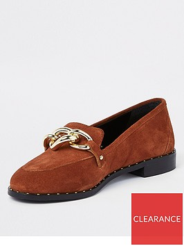 river-island-river-island-chain-front-stud-loafers-rust