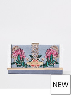 river-island-river-island-embroidered-cliptop-purse-blue