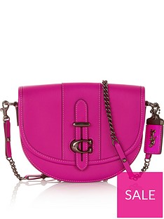 coach-small-glove-tanned-leather-saddle-bag-fuchsia