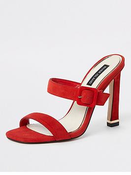 river-island-river-island-slip-on-strap-mule-sandal-red