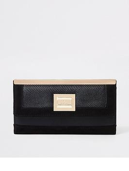 river-island-river-island-gold-top-foldout-purse-black