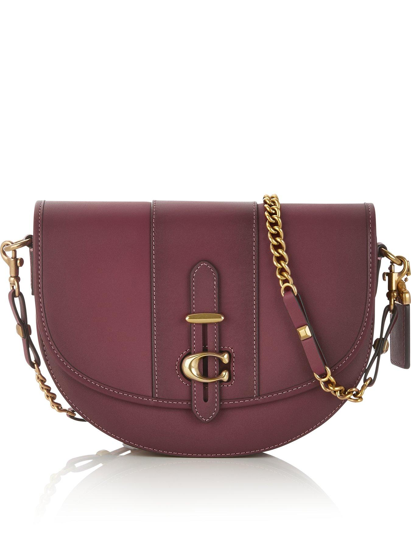 419861252862b sweden coach fashion signature medium red shoulder bags erd c454b 544aa;  italy coach medium glove tanned leather saddle bag burgundy 07baa b7e97