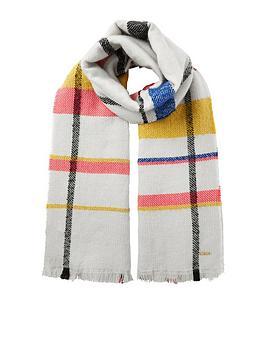 river-island-check-scarf-cream