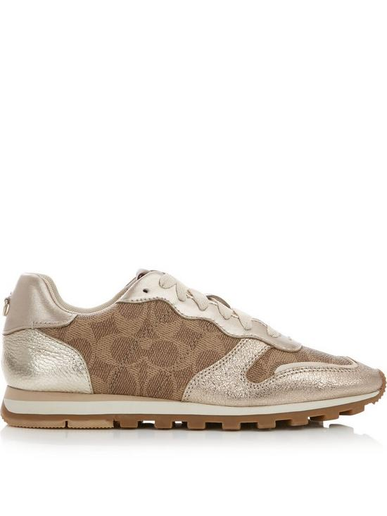 1413d112a73f COACH C118 Coated Signature Print Trainers - Tan
