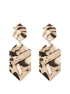 river-island-hexagon-drop-earring-gold
