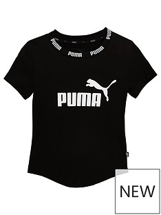 Puma Older Girls Amplified T-Shirt - Black 42575159d7