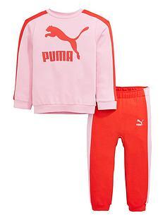 puma-baby-girls-minicats-crew-jogger-set-pink