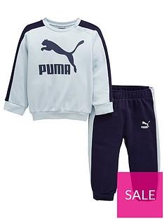 puma-baby-boys-minicats-crew-jogger-set-blue