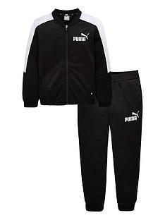 be8693a1080c Puma Older Boys Baseball Collar Tracksuit - Black White