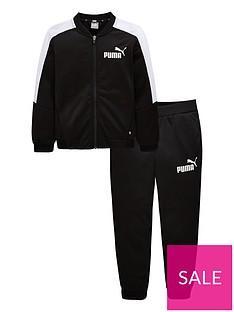 puma-older-boys-baseball-collar-tracksuit-blackwhite