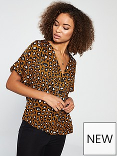 v-by-very-animal-button-through-blouse-animal-printnbsp