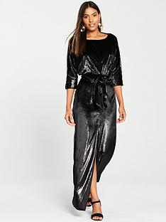 river-island-shimmer-maxi-dress-black