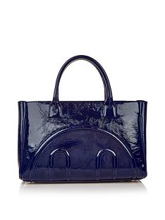 hill-friends-hide-and-seek-patent-tote-bag-navy