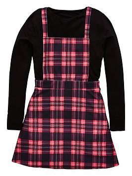v-by-very-girls-check-pinafore-dress-top-outfit
