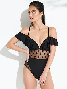 forever-unique-celosia-spot-mesh-swimsuit-black