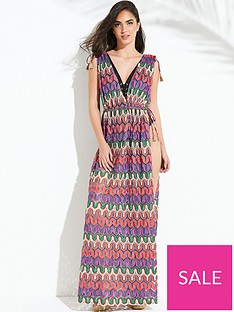 forever-unique-stardust-zig-zag-dress-multi