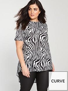 v-by-very-curve-zebra-print-dipped-hem-top-blackwhitenbsp