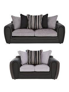 callunanbspfauxnbspsnakeskin-and-fabric-3-seater-2-seaternbspscatter-back-sofa-set-buy-and-save