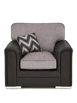 sansa-faux-snakeskin-and-fabric-armchair