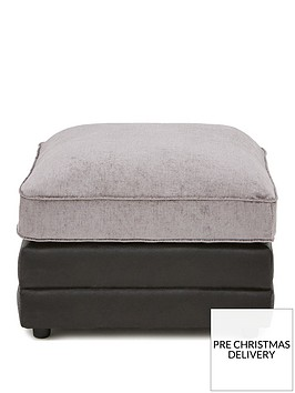 sansanbspfaux-snakeskin-and-fabric-footstool
